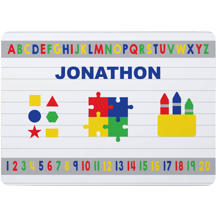 Personalized ABC, 123 Placemat, Available in Boy or Girl
