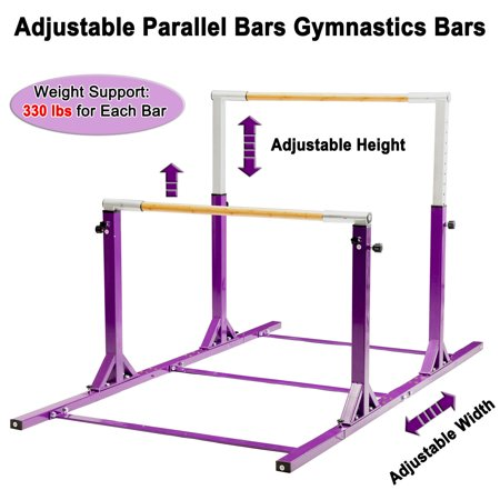 Adjustable Parallel Bars Gymnastics Bar Kids Double Uneven Bars Home Exercise