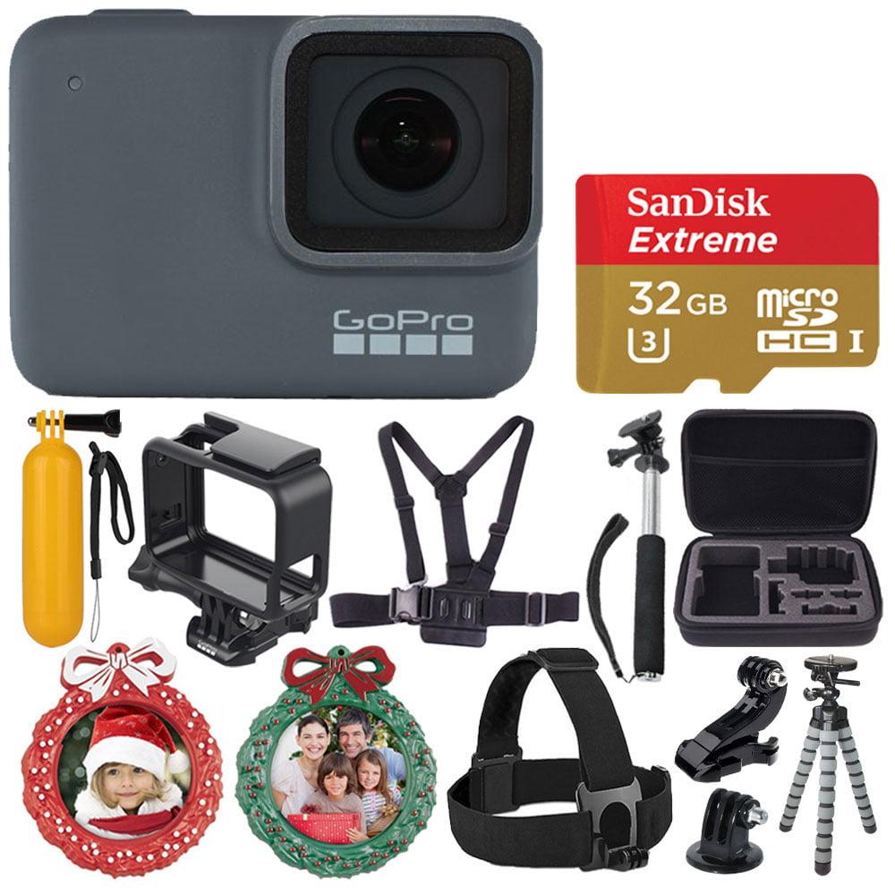GoPro HERO7 Silver Waterproof Digital Action Camera + 32GB MicroSD - Holiday Kit
