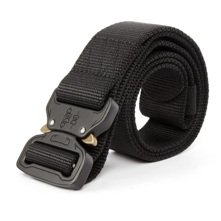 Tactical Belt Men outdoor Adjustable Military Heavy Duty Military Nylon Belt Strap with Riggers Quick Release Metal