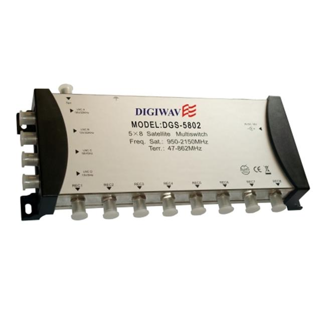 Homevision Technology DGS5802 5 in 8 out Multiswitch with Power Supply
