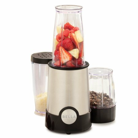 BELLA 13586 12-Piece Rocket Blender, Stainless Steel and Black , New, Free Shipp ()