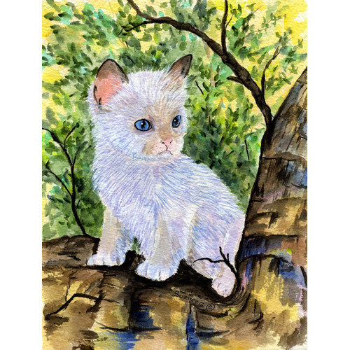 Caroline's Treasures Ragdoll Cat 2-Sided Garden Flag