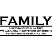 Design on Style  'Family' Vinyl Art Quote