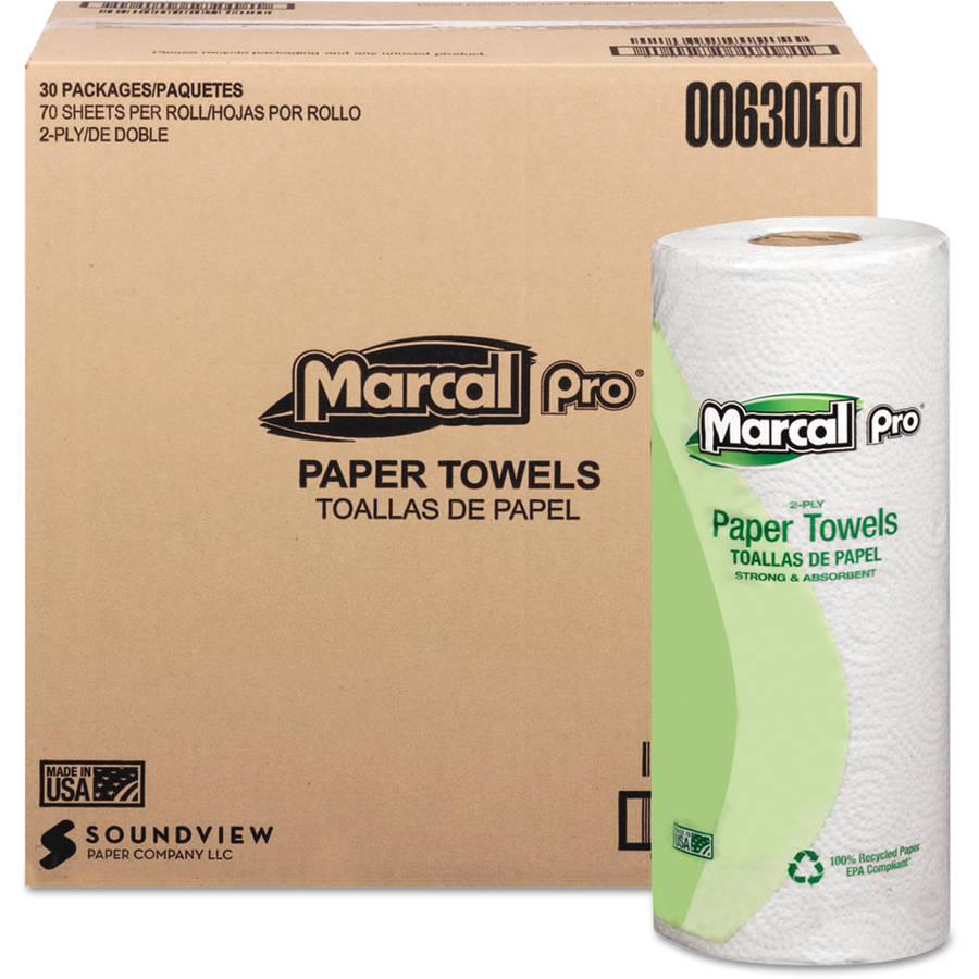 Marcal Pro 100% Premium Recycled Paper Towels, 70 sheets, 30 rolls