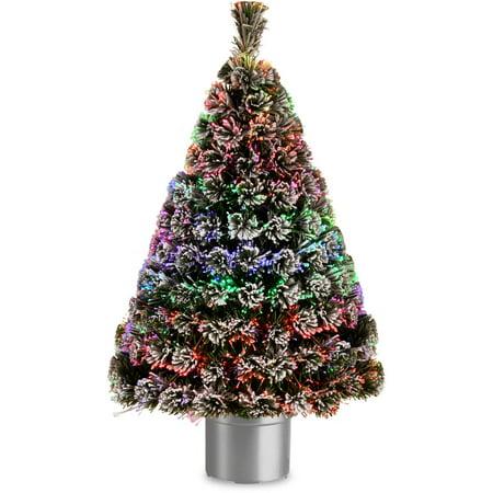 """48"""" Fiber Optic Evergreen Flocked Tree"""