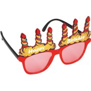 Adult Happy Birthday Candle Sunglasses, One Size