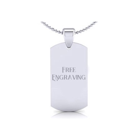 Stainless Steel Dog Tag With Free Custom Engraving 19 Inches