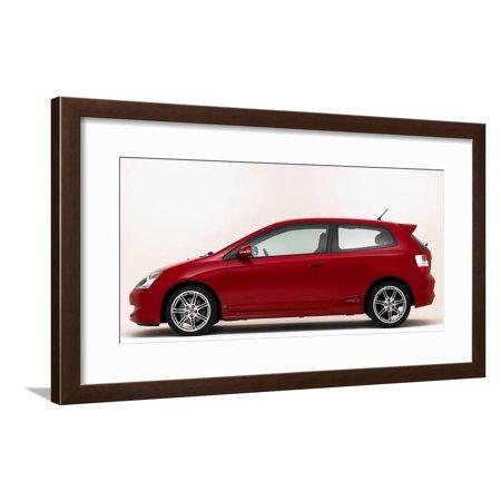 2005 Honda Civic Type R Framed Print Wall Art