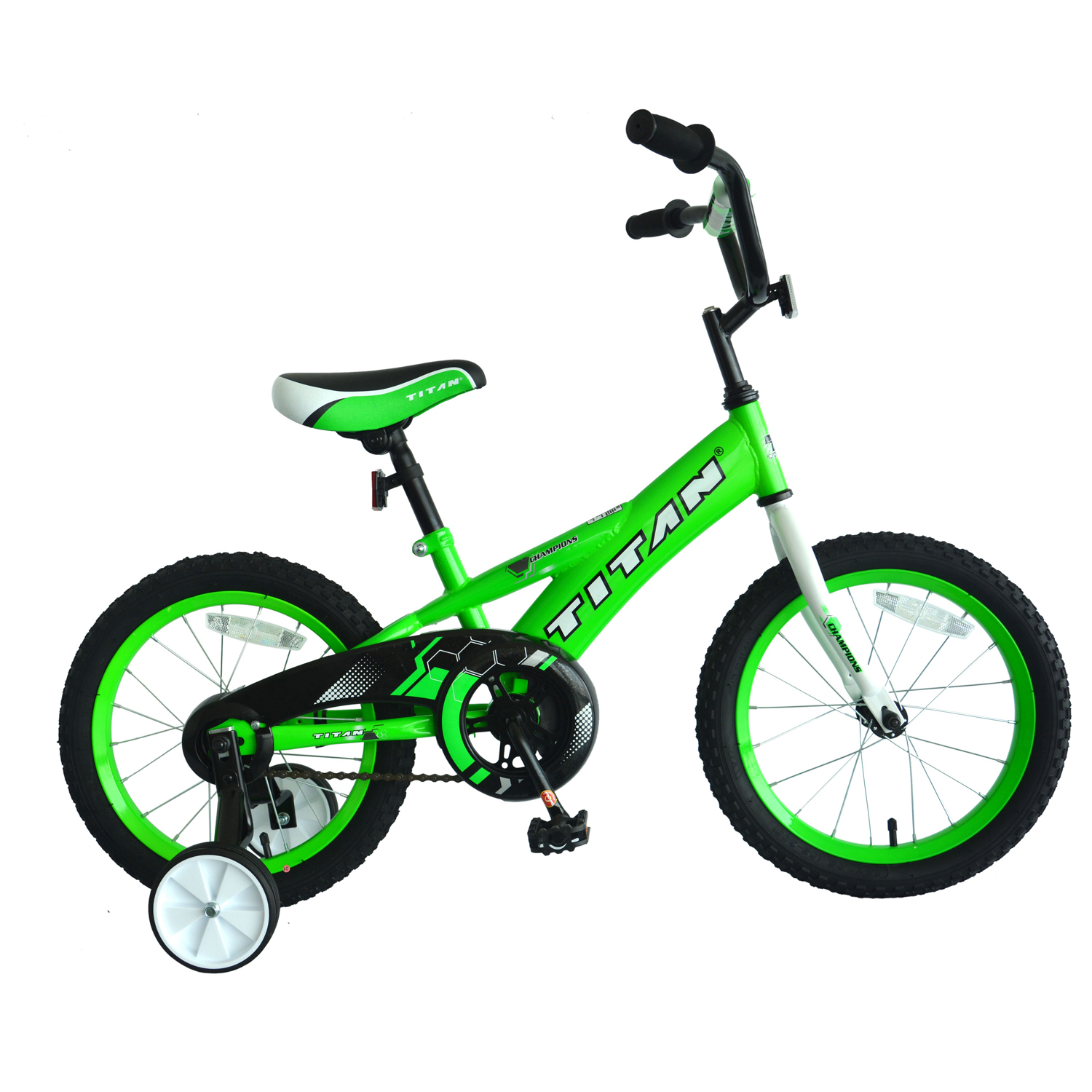 TITAN Champion Boys BMX Bike with Training Wheels, 16-Inch, Green by Titan