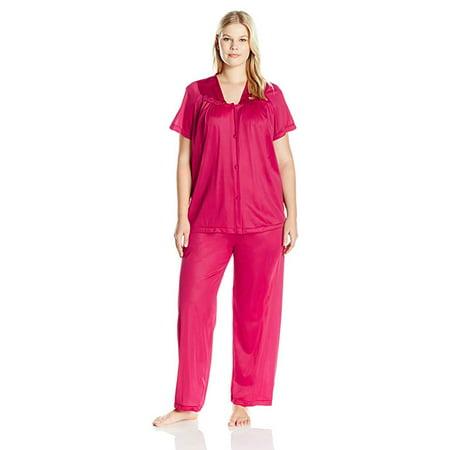 83d047736e0 Vanity Fair - Vanity Fair Women s Plus Size Coloratura Sleepwear Pajama Set  90807 - Walmart.com