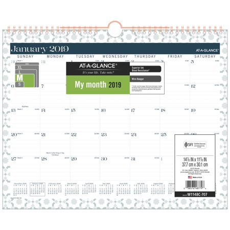 - AT-A-GLANCE BADGE Monthly Wall Calendar - Wall Calendars