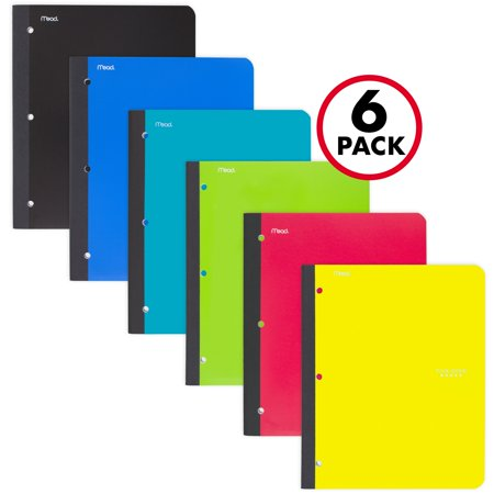 Five Star Wireless Notebook with Pocket, College Ruled, 80 Sheets, 11