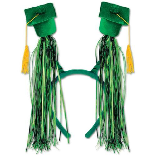 DDI 686596 Grad Cap with Fringe Boppers - Green Case of 12