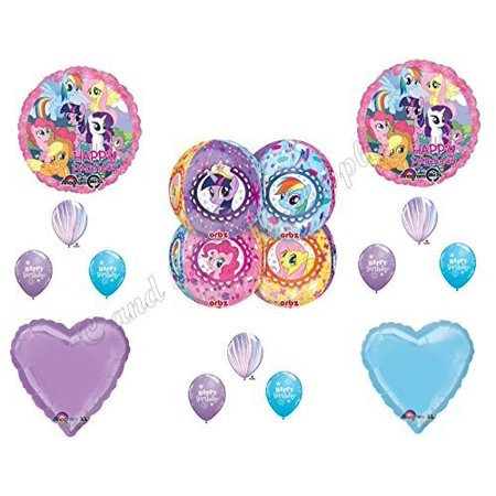 MY LITTLE PONY Birthday party Balloons Decoration Supplies Rainbow Dash Pinkie by Anagram