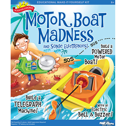 Scientific Explorer Motor Boat Madness and Sonic Electronics Kit