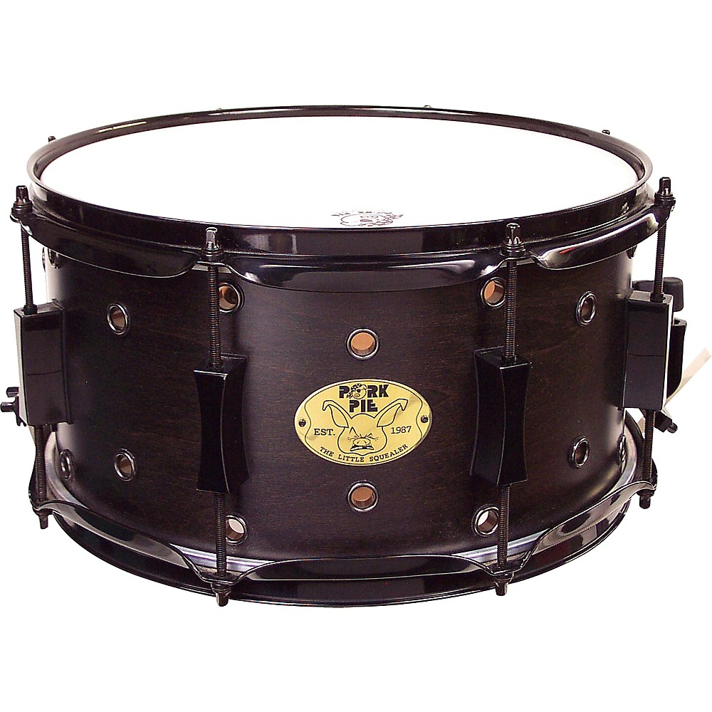 Pork Pie Little Squealer Snare Drum Satin Black Ebony 7 x 13 in. by Pork Pie