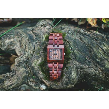 Men's watch-Wood craft - Wood art-Wooden watch-Wood watch-Handmade wood watch-Wooden watches for men - Wedding-Anniversary- Men's watch Style Omega I Series 2 Rosewood