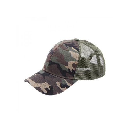 Outdoor Ponytail Baseball Cap Women Men Cotton Adjustable Sunshade Mesh Sun Hat Sportswear Accessory