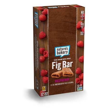 Island Bakery - Nature's Bakery Whole Wheat Fig Bar, Raspberry, 2oz (Pack of 12)