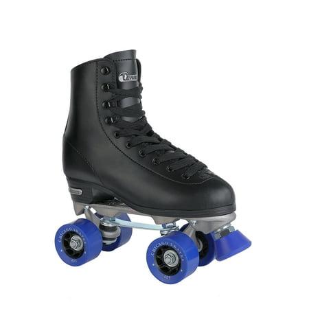 Chicago Men's Classic Quad Roller Skates Black Classic Rink Skate, Sizes 1-13 (Outdoor Roller Skates For Men)