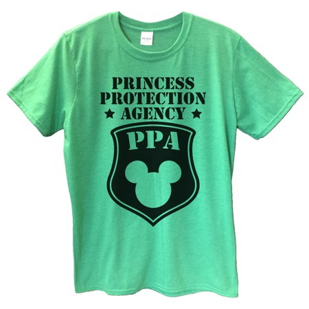 "e3437597 Mens Mickey Mouse T-shirt ""Princess Protection Agency PPA"" Funny Disney T  Shirt Gift For Dad Small, Yellow - Walmart.com"