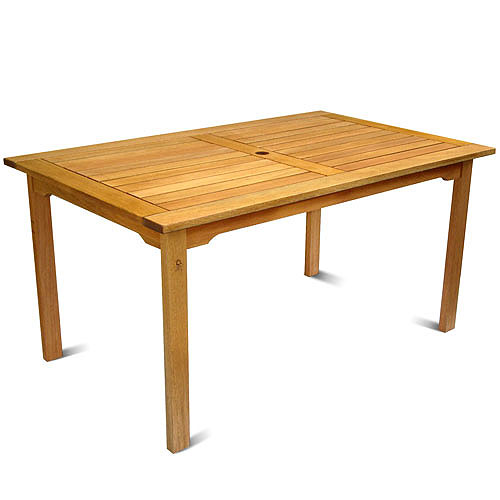 Milano FSC Eucalyptus Wood Rectangular Outdoor Table
