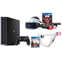 Refurbished PS4 Shooter Bundle PlayStation 4 Pro 1TB Console VR Headset Farpoint Aim Controller Doom Camera 2 Move Motion