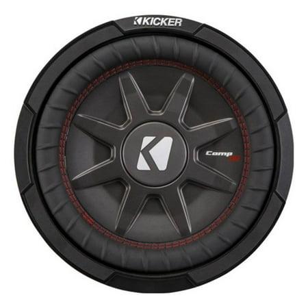 Kicker CompRT Single 12 Inch 1000 Watt Max Dual 2 Ohm Shallow Slim Car Subwoofer ()