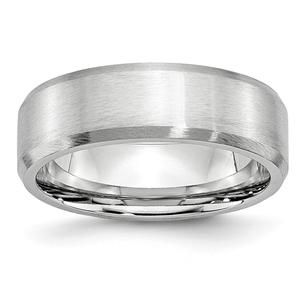 Jewels By Lux Cobalt Beveled Edge Satin 7mm Band