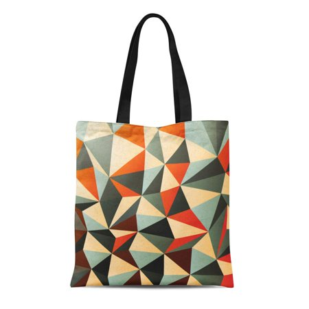 KDAGR Canvas Tote Bag Shape Diamond Shaped Pattern Abstract Geometric Modern Summer Triangle Durable Reusable Shopping Shoulder Grocery Bag