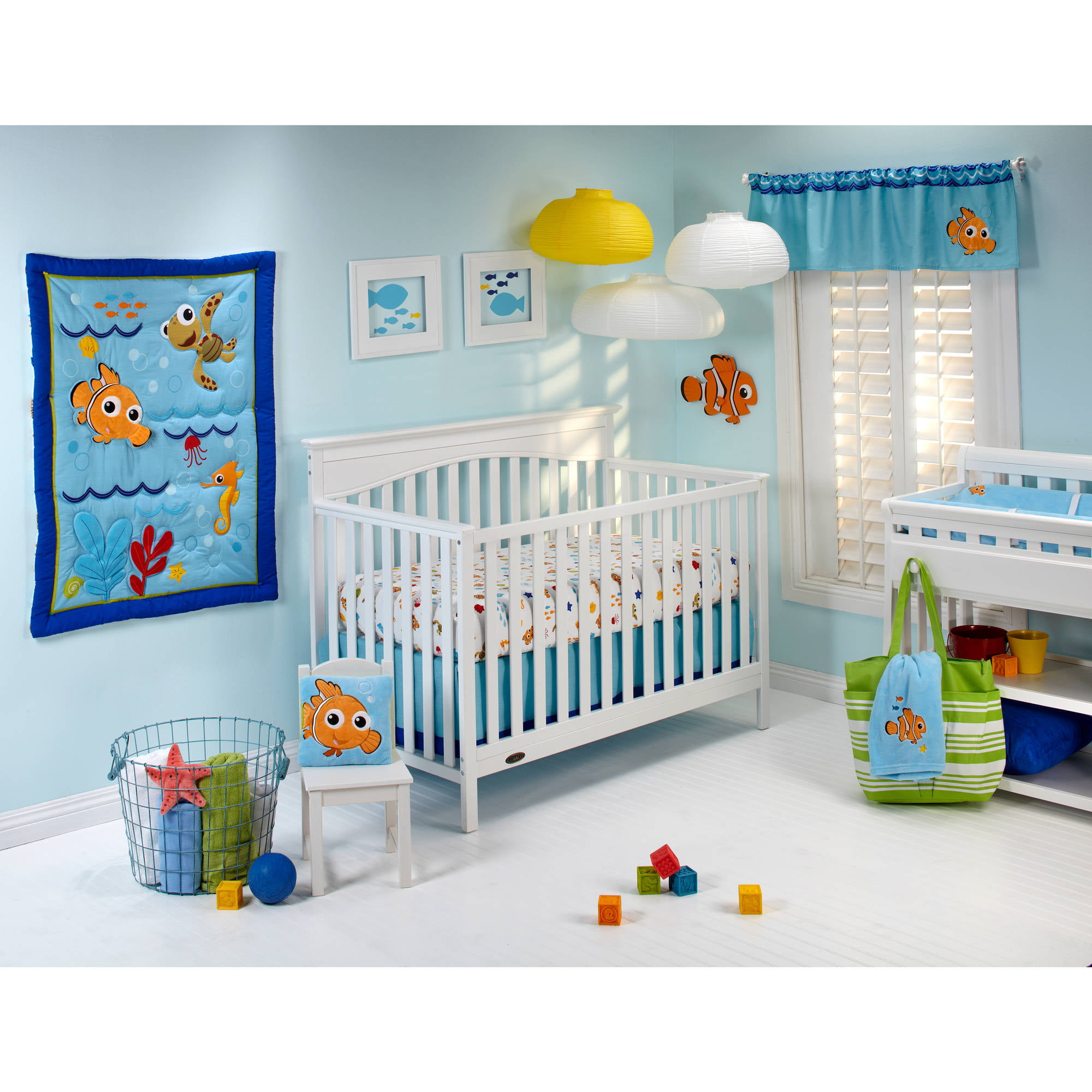 Disney Baby Bedding Nemo S Wavy Days 4 Piece Crib Set Com