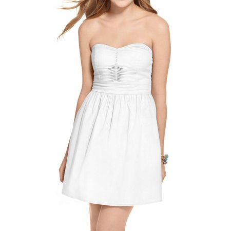 be bop womens juniors strapless a-line casual dress