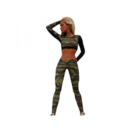 MarinaVida Womens Sports Tops Pants Trousers Workout Leggings Yoga Gym Joggers Fitness