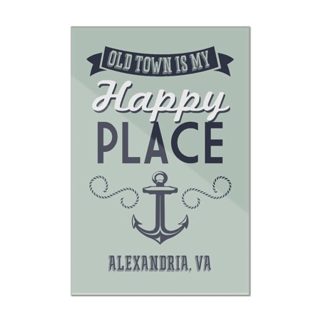 Old Town Alexandria, Virginia - Virginia Beach Is My Happy Place - Lantern Press Artwork (8x12 Acrylic Wall Art Gallery Quality)