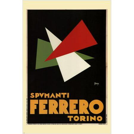 Spumanti Ferrero Vintage Ad Poster Maga Italy 1932 24X36 Bold Modern -