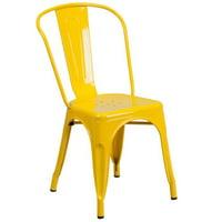 Porch & Den  Stonehurst Blenheim Metal Indoor/ Outdoor Stackable Chair