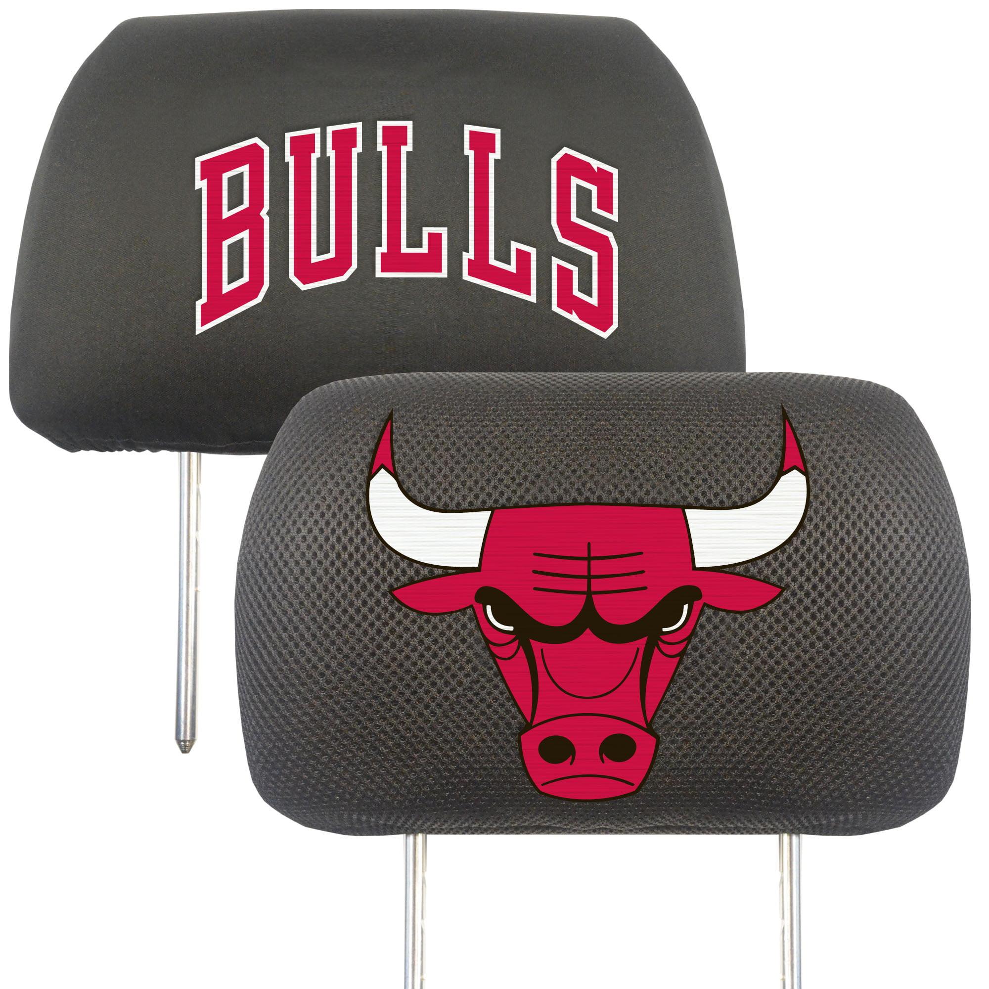 NBA Chicago Bulls Head Rest Cover Automotive Accessory