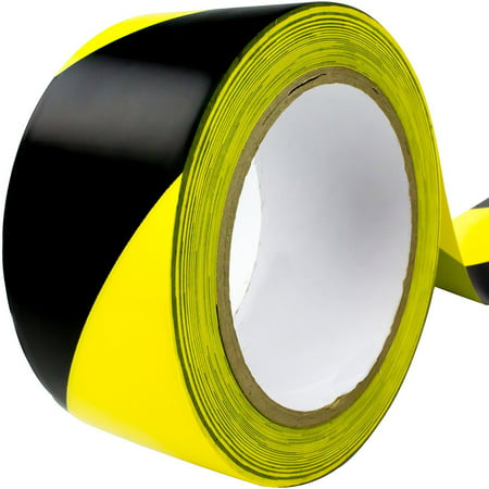 Double-Roll of Ultra-Adhesive, Black & Yellow Hazard Tape for Floor Marking. Mark Floors & Watch Your Step Areas for Safety with High-Visibility, Anti-Scuff, Striped PVC Vinyl by Nova Supply Anti Fatigue Rectangular Floor
