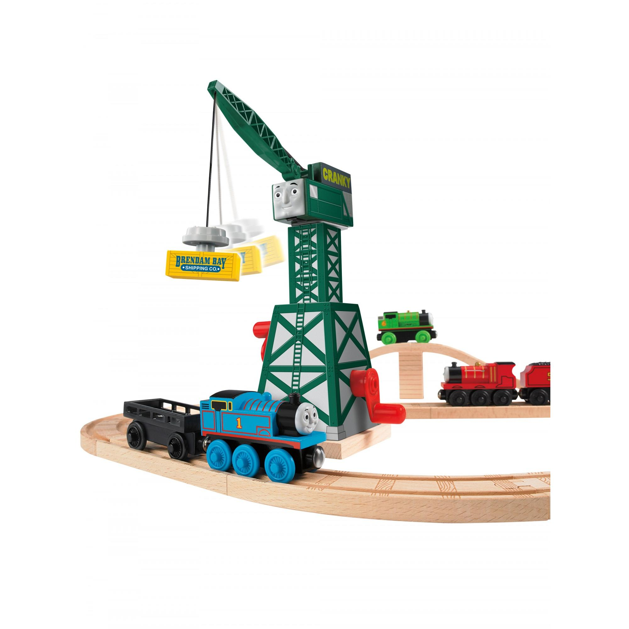 Thomas & Friends Wooden Railway Cranky the Crane by FISHER PRICE