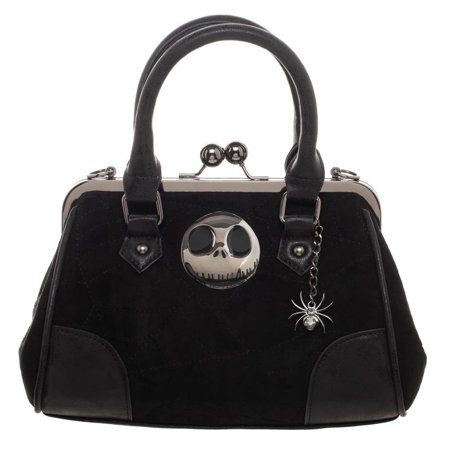Push Lock Handbag (Nightmare Before Christmas Jack Skellington & Spider Kiss Lock Handbag )