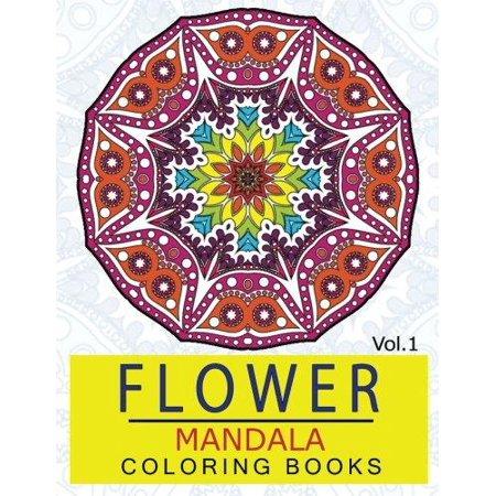 Flower Mandala Coloring Books Volume 1 Stunning Designs Thick Artist Quality Paper