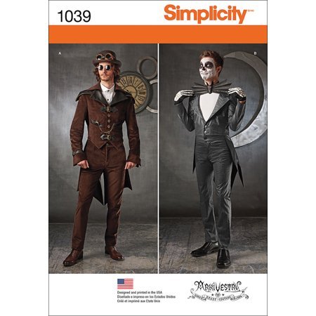 Simplicity Mens' Size 38-44 Cosplay Costume Pattern, 1 Each