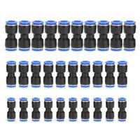 30 pcs Quick Release Straight Push Connectors Air Line Fittings for 1/4 5/16 3/8 Tube , Pneumatic Push Connector, Air Line Fitting
