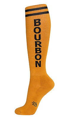 BOURBON Unisex Athletic Knee Socks, Gold & Black, by Gumball Poodle