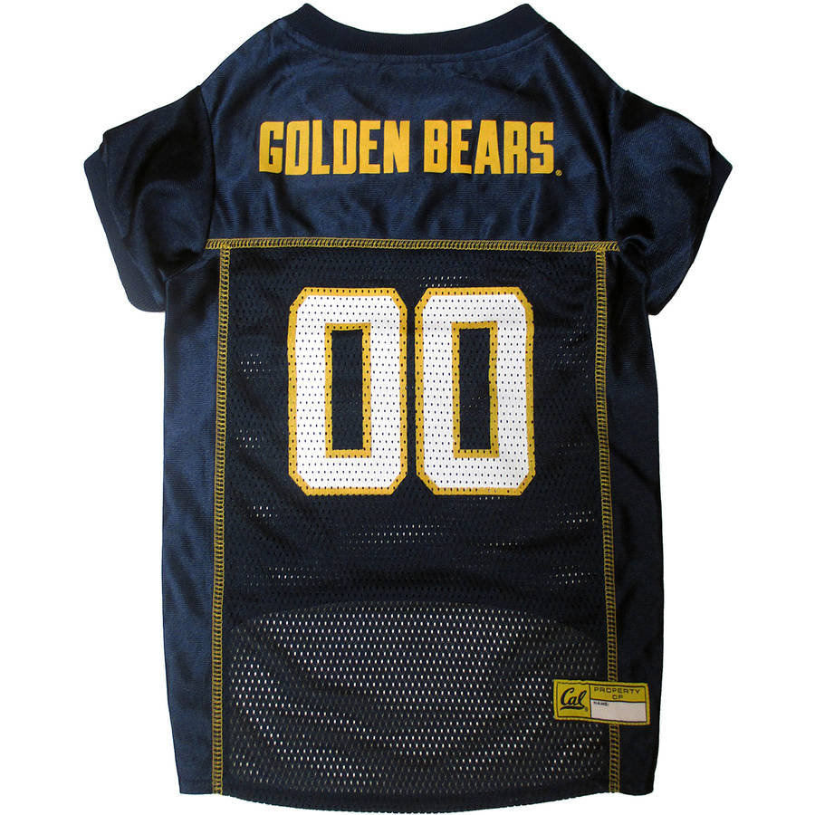 Pets First College Cal Berkeley Golden Bears Collegiate Dog Jersey, Available in Various Sizes