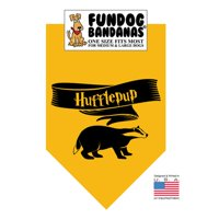 Fun Dog Bandana - HP Hufflepup - One Size Fits Most for Med to Lg Dogs, gold pet scarf