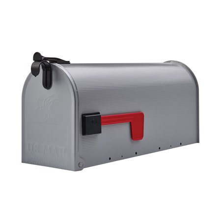 Gibraltar Grayson Medium, Galvanized Steel, Gray, Post Mount - Steel Wall Mount Mailbox