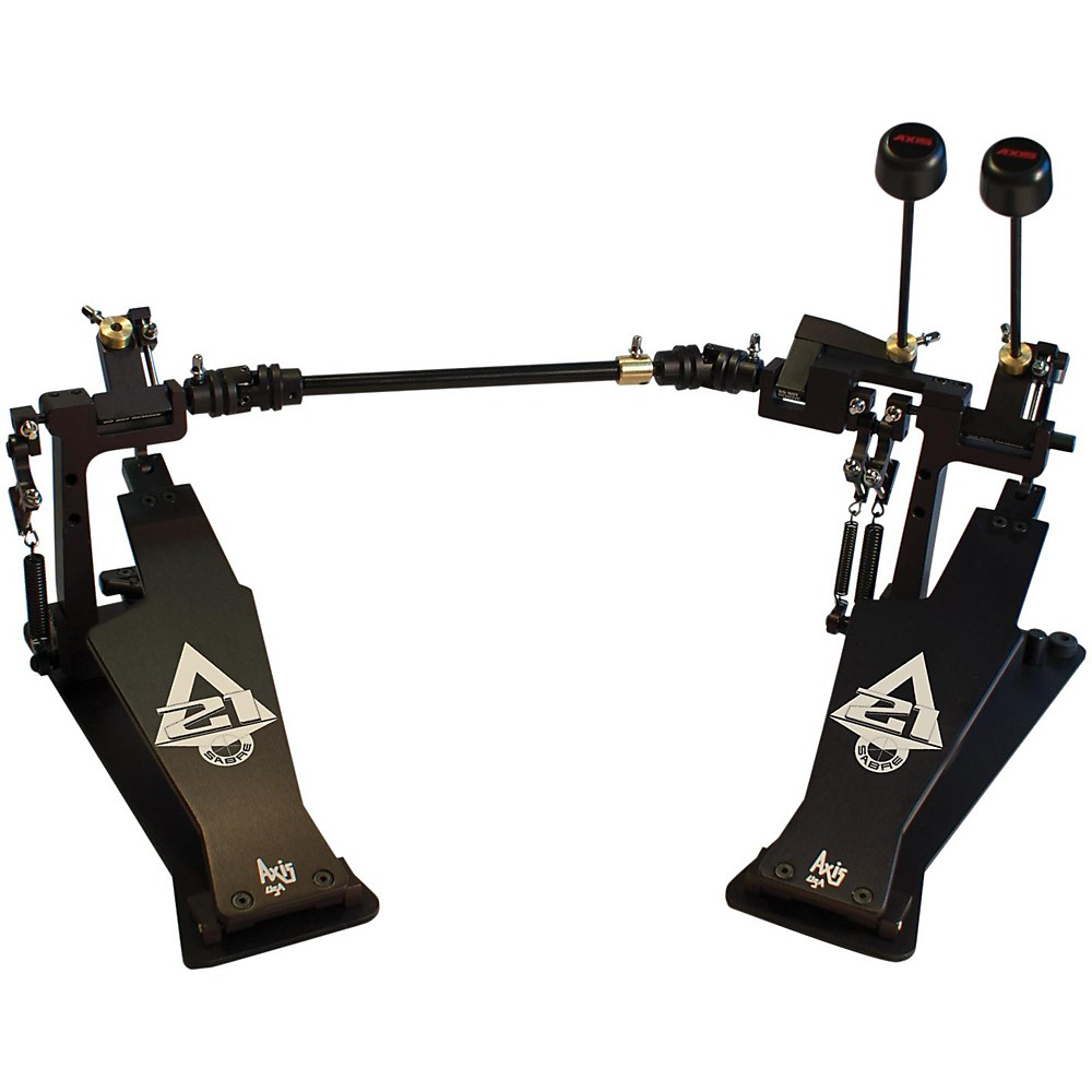 Axis Sabre A21 Double Bass Drum Pedal with Microtune Spring Tensioner Classic Black by Axis