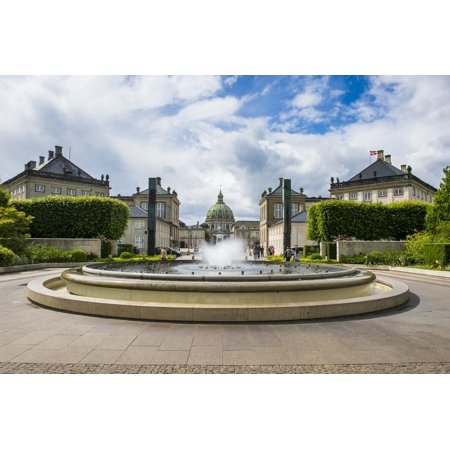 The Fountain in Amaliehaven before Amalienborg, Copenhagen Print Wall Art By Michael